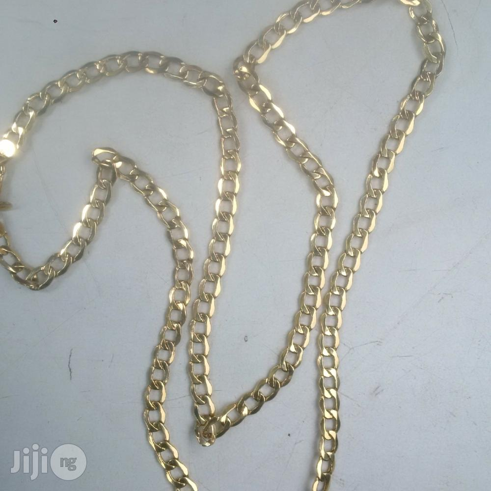 ITALY 750 Solid 18krt Gold Cuban Medium Size Long Length | Jewelry for sale in Amuwo-Odofin, Lagos State, Nigeria