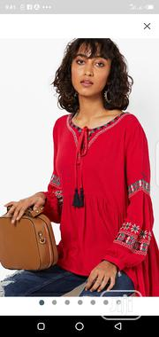 Fusion Embroidered High-Low A-Line Top   Clothing for sale in Abuja (FCT) State, Wuse 2