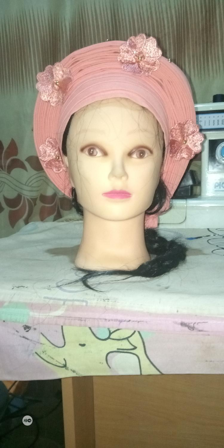 Beautiful Peach Auto Gele, Simple And Classy   Clothing Accessories for sale in Ilorin West, Kwara State, Nigeria
