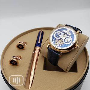 Patek Philippe Automatic Rose Gold/Leather Watch/Pen and Cufflinks   Watches for sale in Lagos State, Lagos Island (Eko)