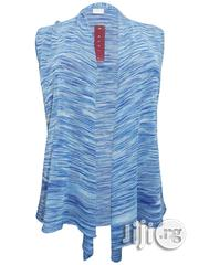 Blue Sleeveless Waterfall Hem Top | Clothing for sale in Lagos State