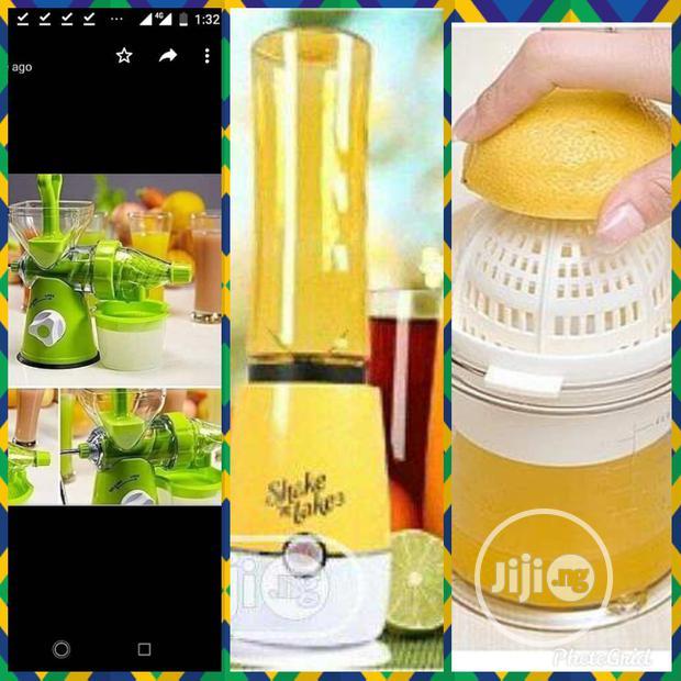 Manual Juicer, Citrus Juicer And Shake N Take Smoothie Maker