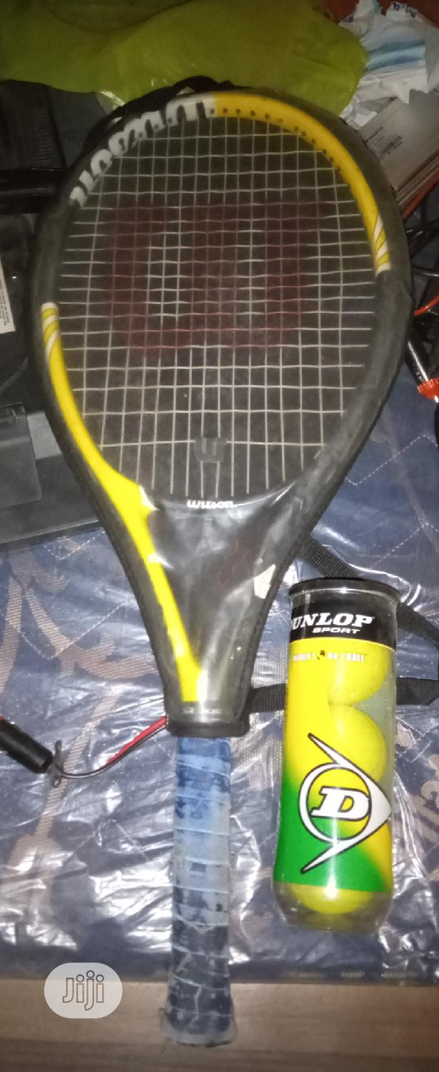 Archive: Wilson Racquet Fairly Used With Free Balls