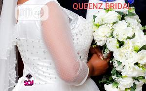 Beautiful Foreign Lace Studded Ball Wedding Gown For Rent | Wedding Wear & Accessories for sale in Lagos State, Alimosho