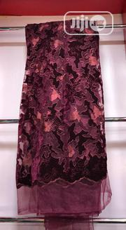 Quality Wine Velvetine Lace | Clothing for sale in Lagos State, Ojo