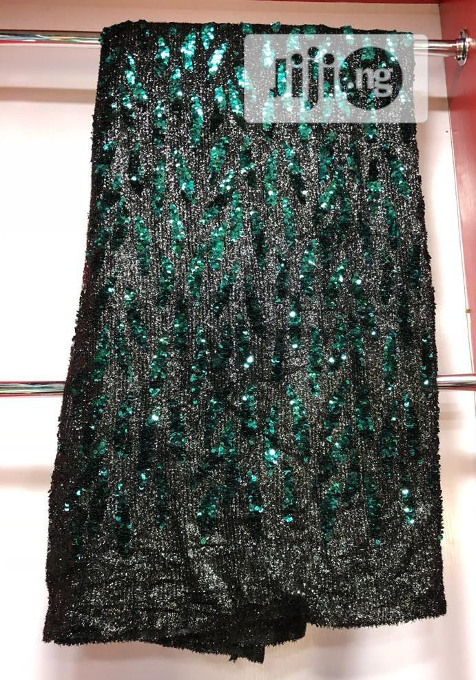 Archive: Black Nd Green Sequence Lace