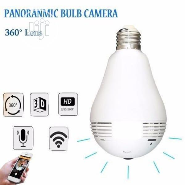 2MP Smart Wifi Bulb Spy CCTV Camera | Security & Surveillance for sale in Ojo, Lagos State, Nigeria