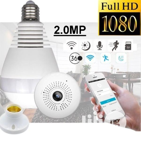 2MP Smart Wifi Bulb Spy CCTV Camera