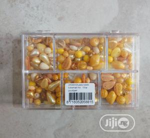 Yellow Bohemian Glass Beads | Arts & Crafts for sale in Lagos State, Surulere