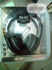MS_K6 Sound Stereo Wireless Headphones | Headphones for sale in Lagos State, Ikeja