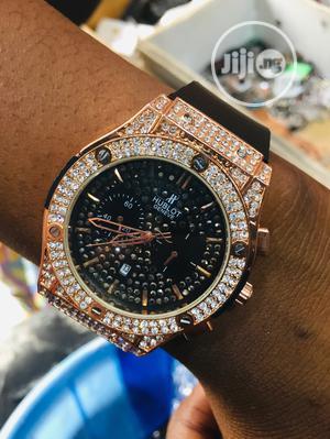Hublots Rubber Ice Strap Wrist Watch | Watches for sale in Lagos State, Lagos Island (Eko)