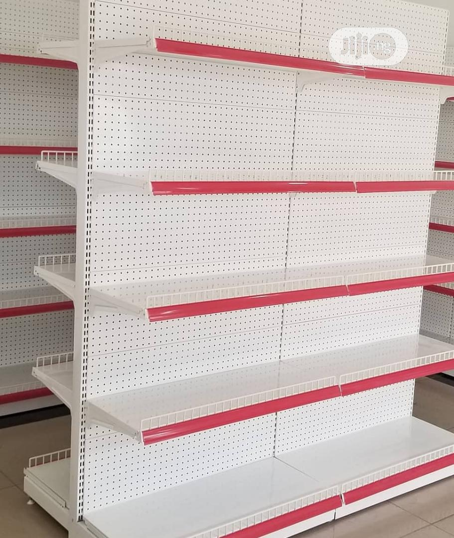 Quality Red Supermarket Shelves