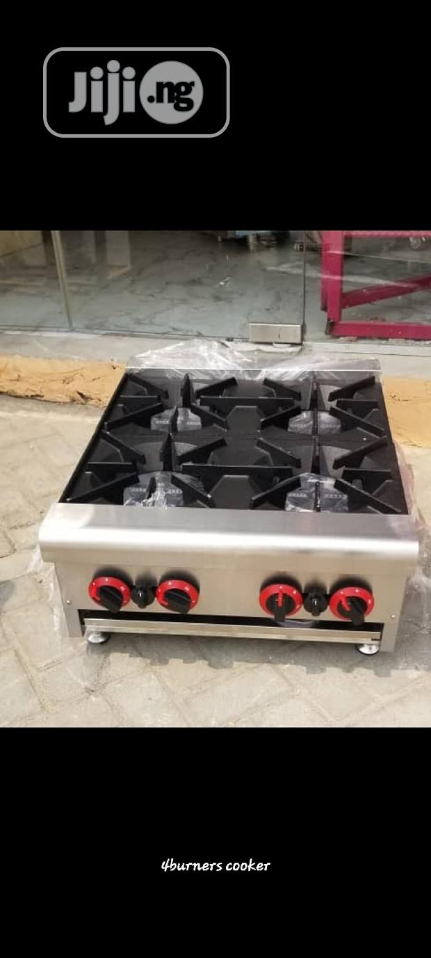 4burners Gas Cooker. Industrial Gas Cooker