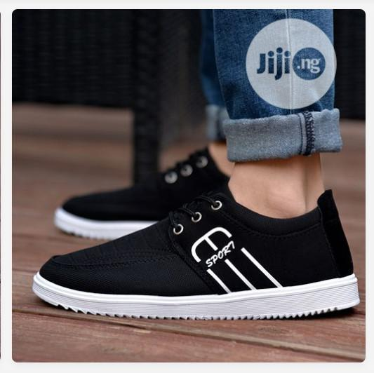 Men's Lace Up Casual Shoes-Black in