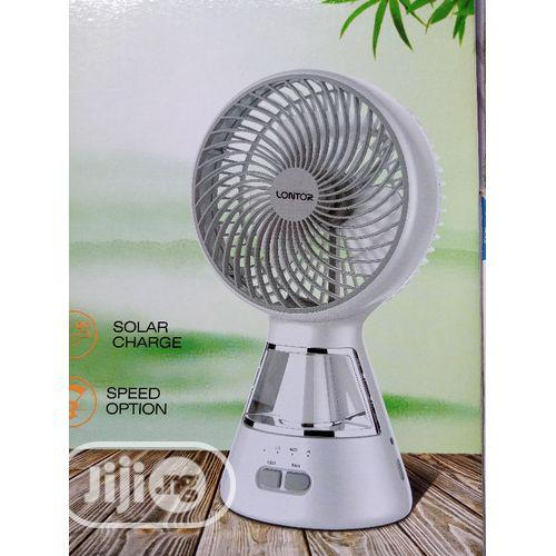 """6"""" Lontor Rechargeable Fan With Led Light"""