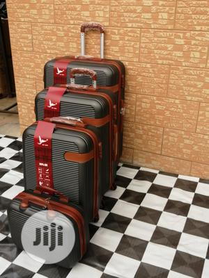Black Wheel Luggage Traveling Bag (4 Sets) For Easy Smooth Traveling | Bags for sale in Lagos State, Ikeja