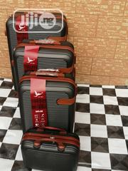 Black 4 Wheels (4 Sets) Trolley Luggage Bags | Bags for sale in Lagos State, Ikeja
