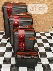 Quality 4 Wheels Black Trolley Luggage Bags (4 Sets) For Sale | Bags for sale in Lagos State, Ikeja