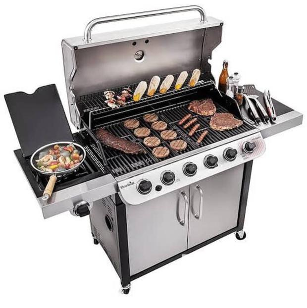 Archive: 6 Burners Gas Bbq Grill With Side Cooker