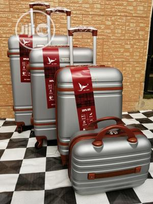 Beautiful Silver Color Trolley Bags (4 Sets) Available Now In Ikeja | Bags for sale in Lagos State, Ikeja