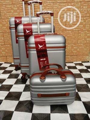 Beautiful Silver Colored Luggage Trolley (4 Sets) For The Family | Bags for sale in Lagos State, Ikeja
