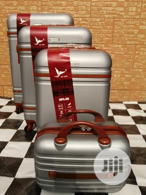 Cool 4 Wheels Silver Color Trolley Luggage Bags (4 Sets) For Boys | Bags for sale in Lagos State, Ikeja