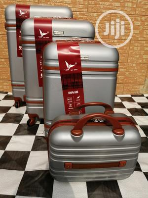 Cool Wheeled Silver Color Trolley Luggage Bags (4 Sets) Now Available | Bags for sale in Lagos State, Ikeja