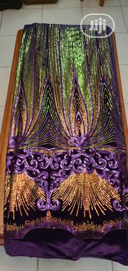 Purple Sample Sequence Velvet | Clothing for sale in Lagos State, Ojo