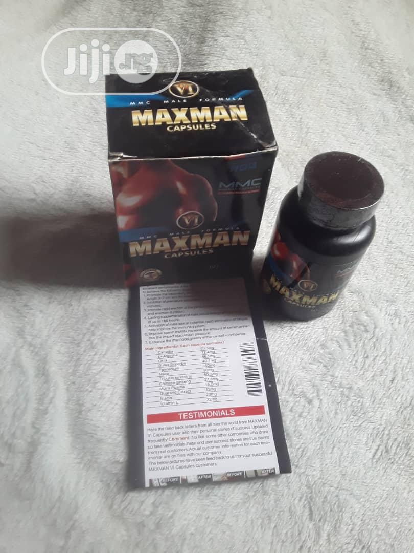 Maxman VI Gold Enlargement/ Big Size 60 Capsules | Sexual Wellness for sale in Yaba, Lagos State, Nigeria