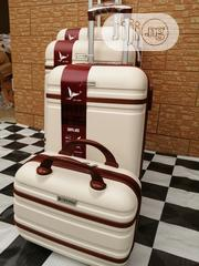 Super Fancy Trolley Luggage Bags (4 Sets Of Wheels) Cream Color | Bags for sale in Lagos State, Ikeja