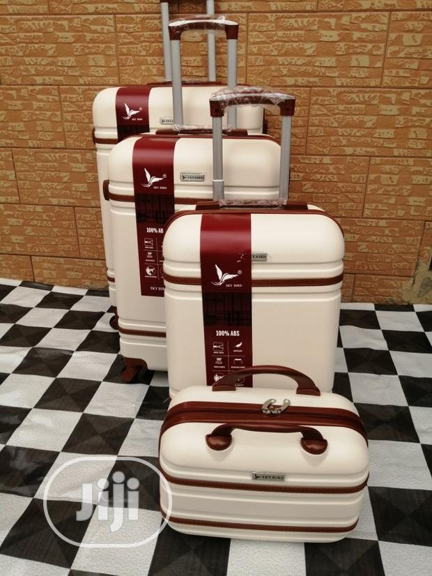 Expendable Trolley Luggage Bags Sets (4 Wheels) Cream Colors