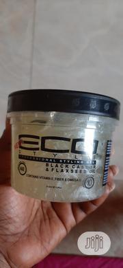 Eco Style Black Castor Flaxseed Oil Professional Styling Gel 12oz | Hair Beauty for sale in Enugu State, Enugu