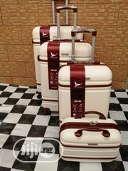 Standard Quality Wheels Trolley Luggage Bags (4 Sets) Cream Colored | Bags for sale in Lagos State, Ikeja