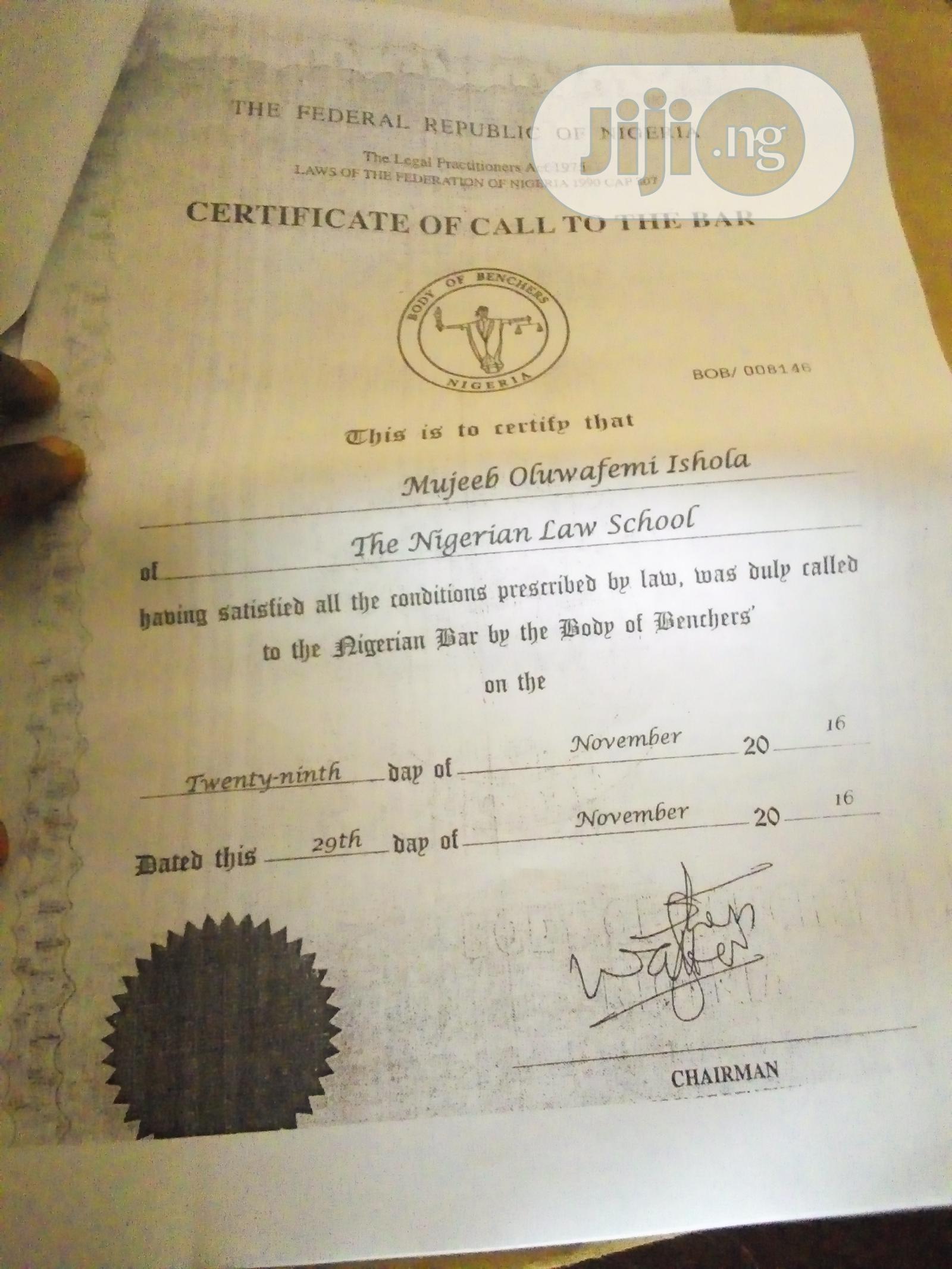 Legal CV   Legal CVs for sale in Ikeja, Lagos State, Nigeria