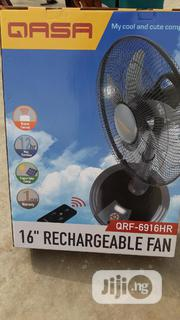 """QASA 16"""" Rechargeable Fan With Remote (New Model) 