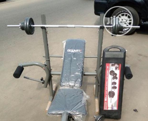 Weight Bench and 50kg Dumbells