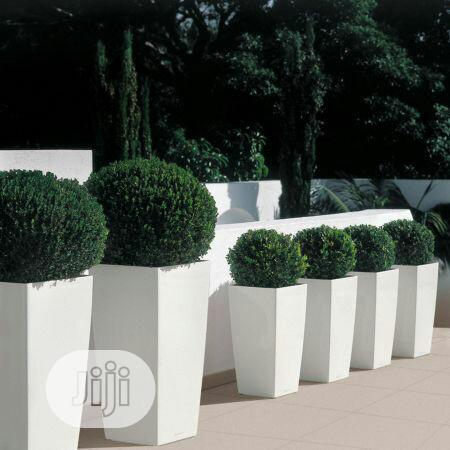 Nice Flower Pots With Artificial Plants.