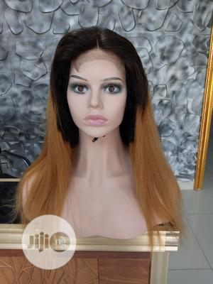 Two Toned Straight Human Hair Wig With Full Closure   Hair Beauty for sale in Lagos State, Ikeja