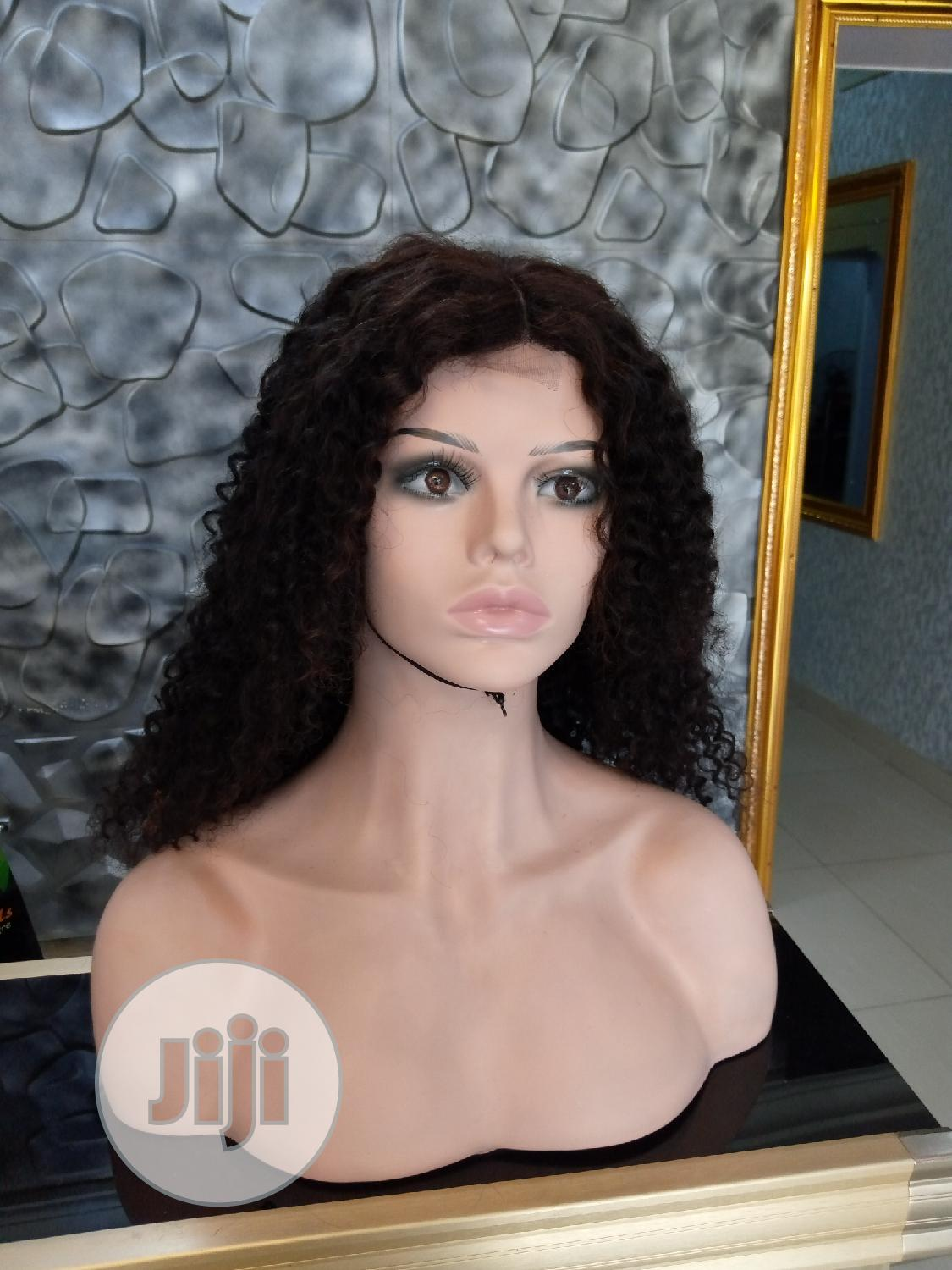 Curly Human Hair Wig With Closure | Hair Beauty for sale in Ikeja, Lagos State, Nigeria