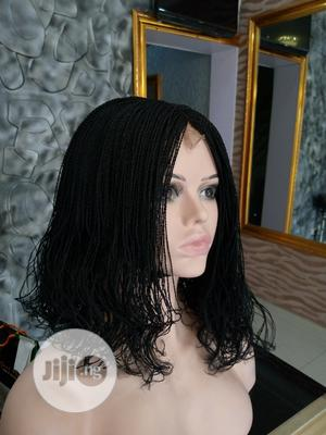 Handmade Curly Braided Wig With Closure   Hair Beauty for sale in Lagos State, Ikeja