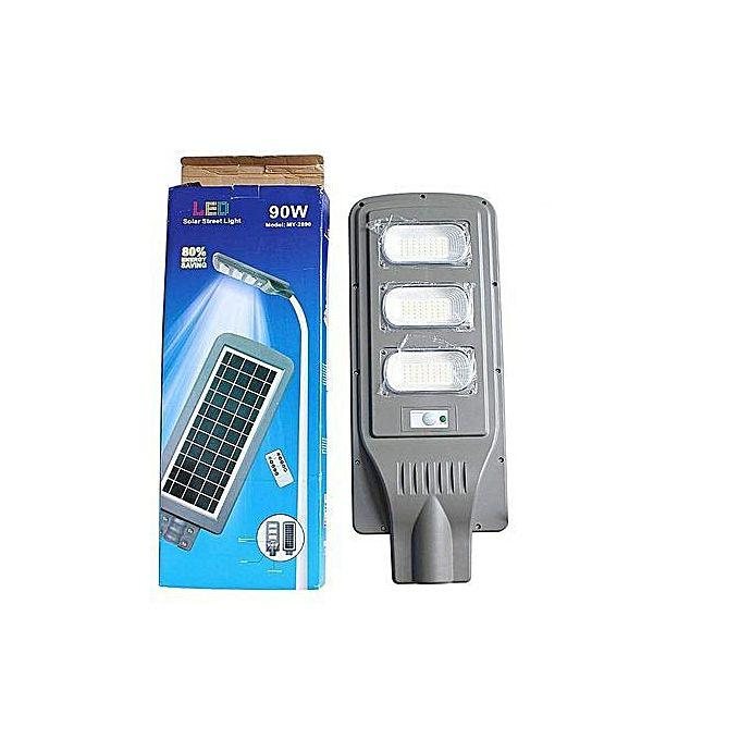 All In One Solar Street Light With Sensors Control 90w And Very Bright