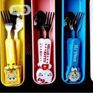 12pcs Kids Steel Character Cutlery With Plastic Handle   Babies & Kids Accessories for sale in Lagos State, Amuwo-Odofin
