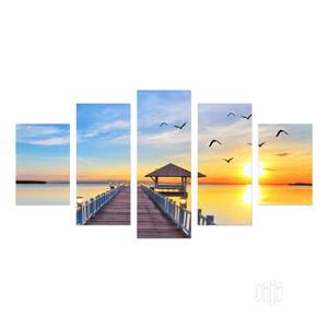 Sunset Shore Birds Picture Wall Art Canvas 5 Pieces | Home Accessories for sale in Lagos State, Magodo