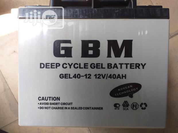 GBM Inverter Batterie 12volt 40AH