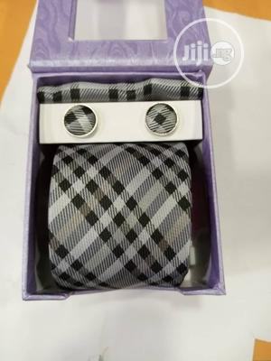 Set Of Checked Designers Tie With Cufflinks   Clothing Accessories for sale in Lagos State, Lagos Island (Eko)