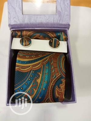 Set of Vintage Designers Tie With Cufflinks   Clothing Accessories for sale in Lagos State, Gbagada