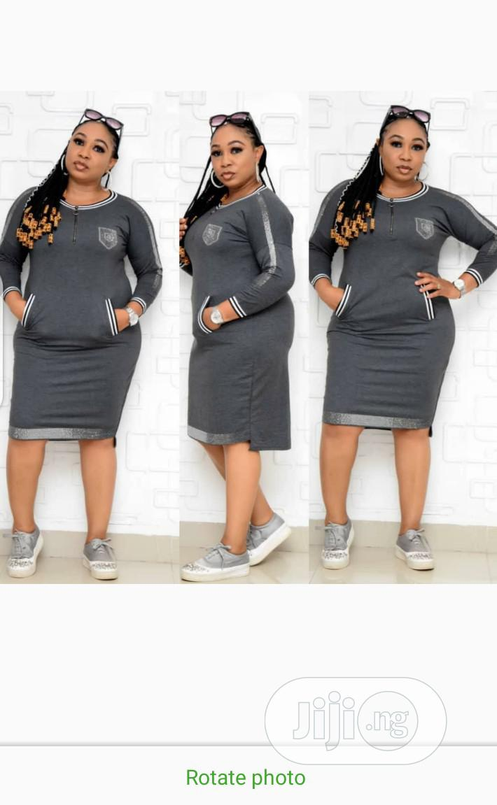 New Quality Turkey Front Zip Designer Short Gown | Clothing for sale in Lagos Island, Lagos State, Nigeria
