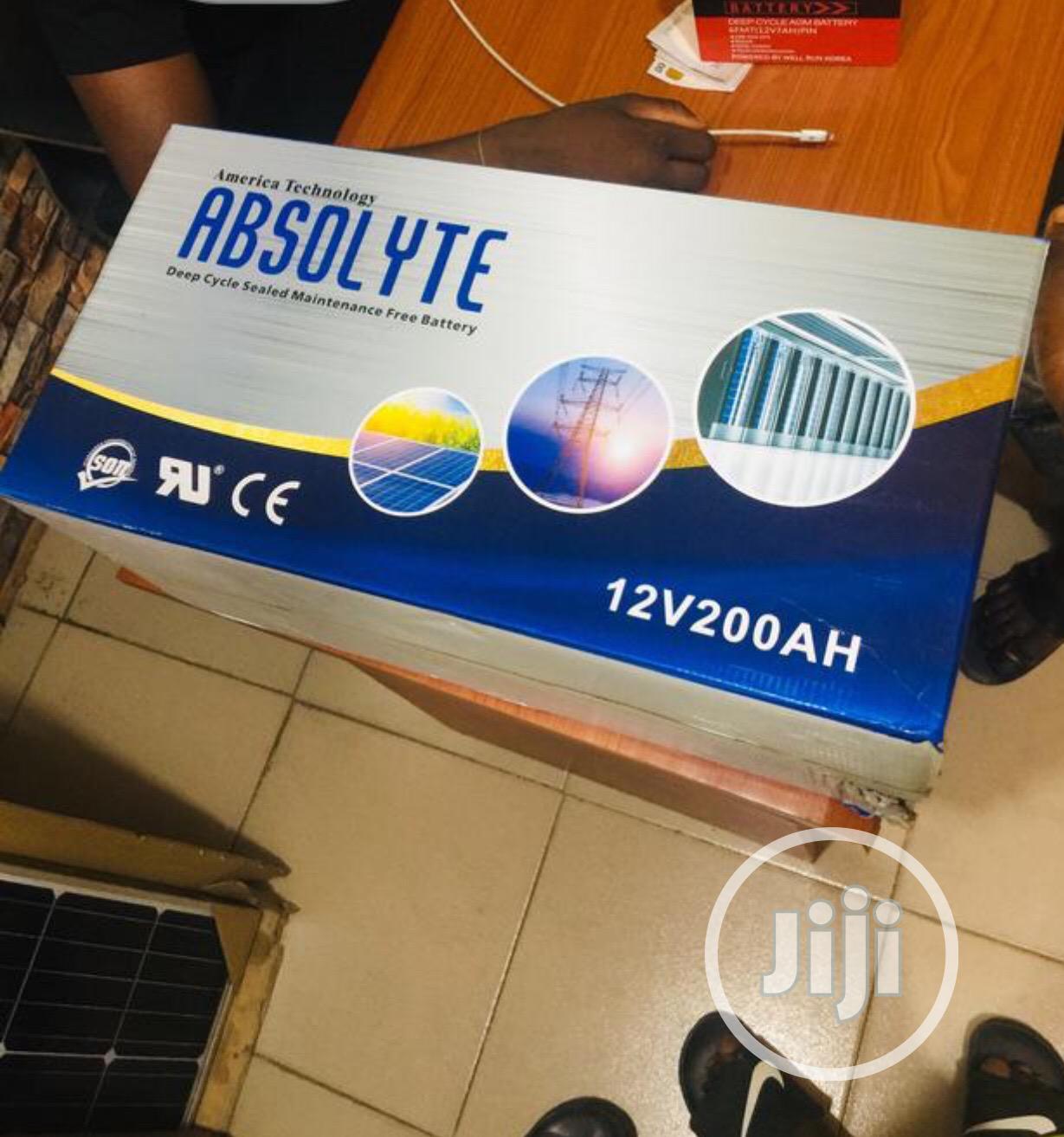 Absolyte Solar Battery 12v/200ah