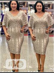 New Turkey Gold Female Vneck Dress | Clothing for sale in Lagos State, Lagos Island