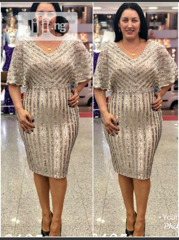 New Turkey Gold Female Vneck Dress